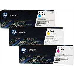 HP 312A 3-pack Cyan/Magenta/Yellow Original Toners