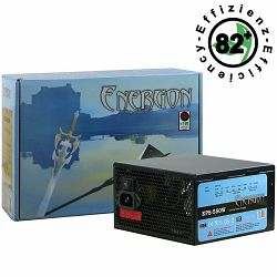 Power Supply INTER-TECH Energon EPS AC 220-240V, 50/60Hz, DC 3.3/5/±12V, 550W, Retail, Active PFC, 1x120