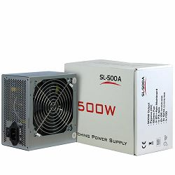 Power Supply INTER-TECH IT-SL500 AC 115/230V, 50/60Hz, DC 3.3/5/±12V, 500W, Retail, Passive PFC, 1x120