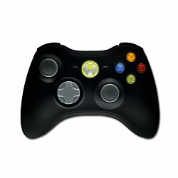 Gamepad MICROSOFT Xbox 360 Wireless Controller (, Mechanical, 12 Btn) for XBOX & PC with USB Dongle, Retail