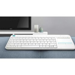Tipkovnica Wireless Touch K400 Plus white