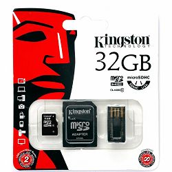Kingston  32GB Multi Kit (Class 10 microSD + SD adapter + USB reader) Android, EAN: 740617183016