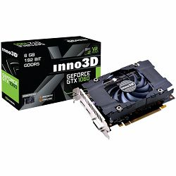 Inno3D Video Card GeForce GTX 1060 Compact GDDR5 3GB/192bit, 1506MHz/8000MHz, PCI-E 3.0 x16, HDMI, DVI-D, DP, HerculeZ Cooler (Double Slot), Retail
