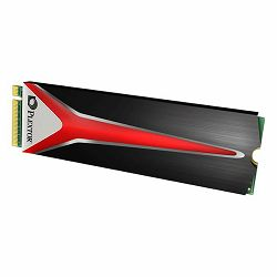 Plextor M8PeG 512GB SSD, M.2 2280 NVMe, Read/Write: 2,300 MB/s / 1,300 MB/s, Random Read/Write IOPS 260K/250K, Heatsink