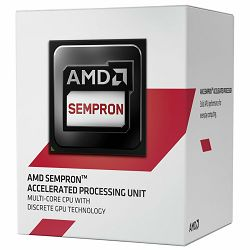 AMD APU Desktop Sempron X4 3850 (1.3GHz,2MB,25W,AM1) box, Radeon R3