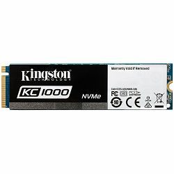 Kingston SSD 960GB KC1000 PCIe Gen3 x 4, NVMe (M.2 2280), EAN: 740617264999