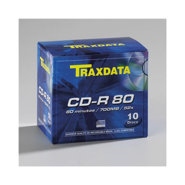 TRAXDATA OPTIČKI MEDIJ CD-R BOX 10  901354ATRA001