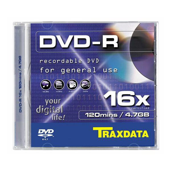 TRAXDATA OPTIČKI MEDIJ DVD-R 16X BOX 1  907344ATRA005