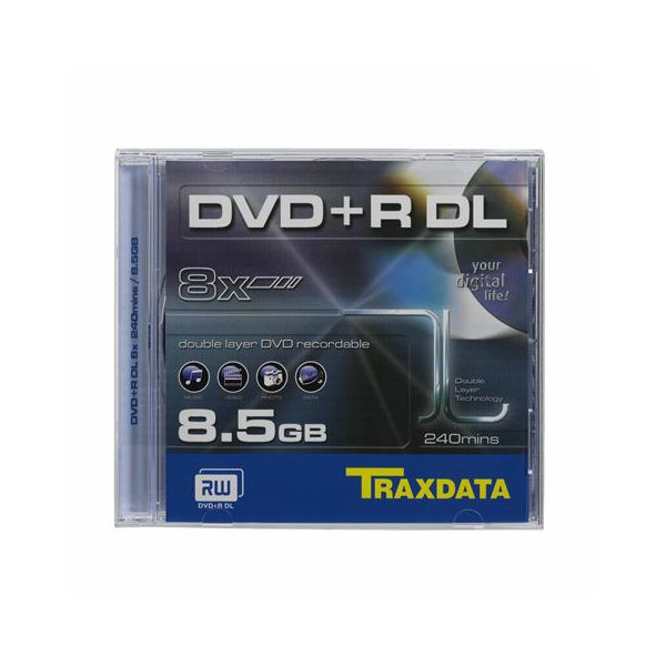 TRAXDATA OPTIČKI MEDIJ DVD+R DUAL LAYER 8X BOX 1  90631DATRA003